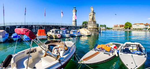 famous harbor of Lindau am Bodensee