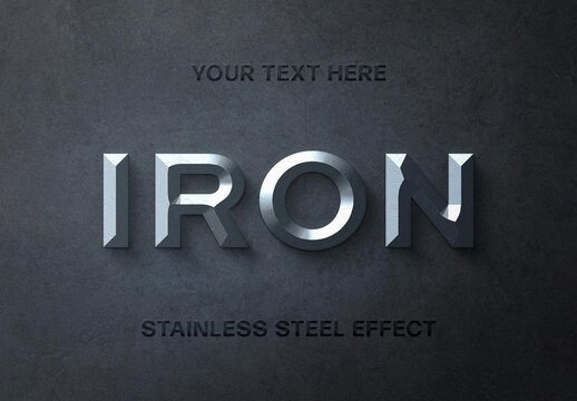 Old Iron 3D Text Effect Mockup