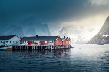 Hamnoy fishing village, spring time, Lofoten Islands, Norway