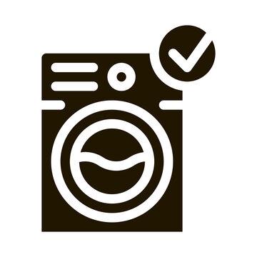 Laundry Washing Machine glyph icon vector. Laundry Washing Machine Sign. isolated symbol illustration