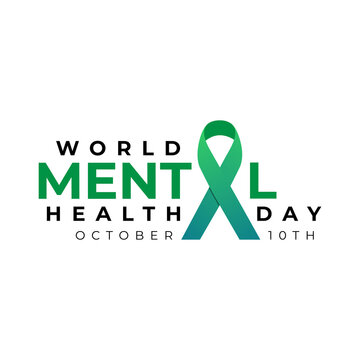 Design for World mental health day. Annual campaign. Raising awareness of mental health. Control and protection. Medical health care design.
