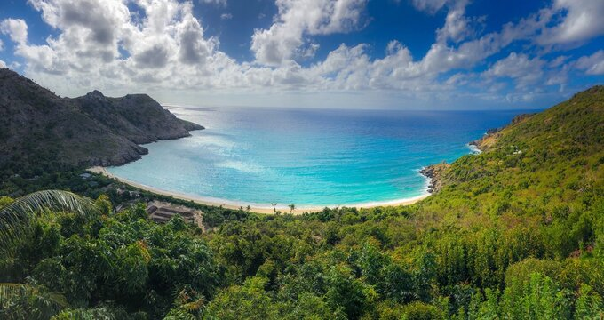 st barths beach panoramic