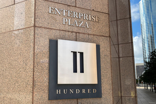 The headquarters of energy pipeline operator Enterprise Products Partners seen in Houston