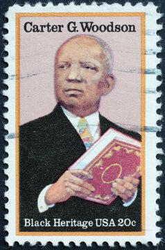 Black heritage, Carter G.Woodson on american stamp