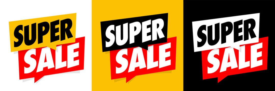 Super sale on speech bubble