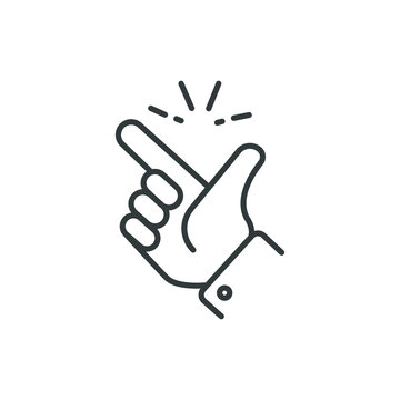 easy icon, finger snapping line sign - vector illustration eps10