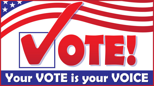 VOTE Banner - Your Vote is your Voice
