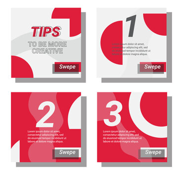 social media tips post templates. vector design