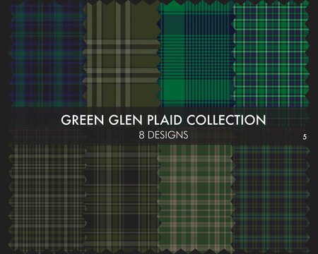 Green Glen Plaid Tartan Seamless Pattern Collection