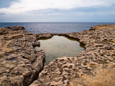 Dwejra Bay in Gozo, Malta