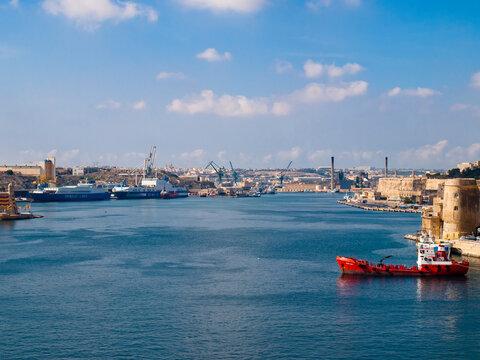 The Grand Harbour of Valletta, Malta