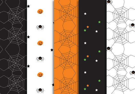 Halloween Patterns Set