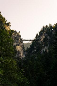 Marienbrücke Neuschwanstein Allgäu Bayern Sommer Pöllatschlucht