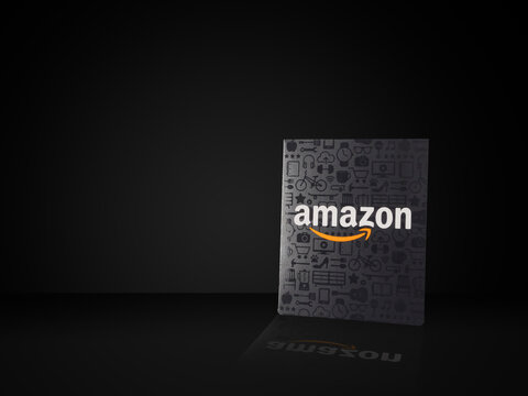 ATLANTA, GEORGIA - SEPTEMBER 29, 2020 : Amazon gift cards can be used to purchase items from the Amazon.com website via computer or mobile device.