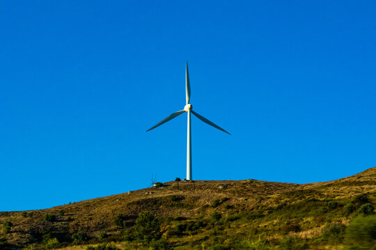 wind turbine in the wind