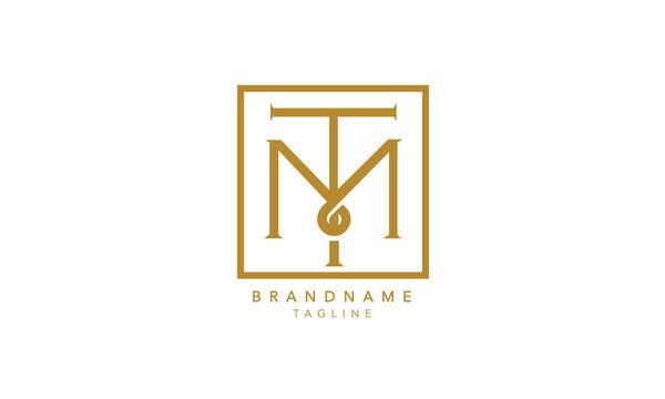 Alphabet letters Initials Monogram logo TM, MT, T and M