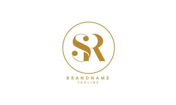 Alphabet letters Initials Monogram logo SR, RS, S and R