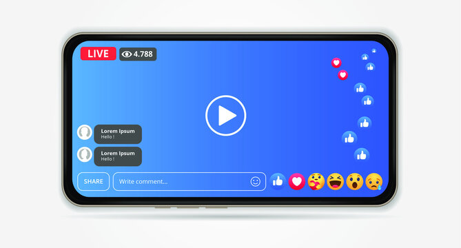 facebook live streaming with mobile element