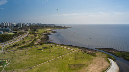Drone photography from Buenos Aires city and
