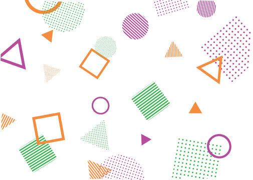 幾何学模様の抽象的な背景イラスト