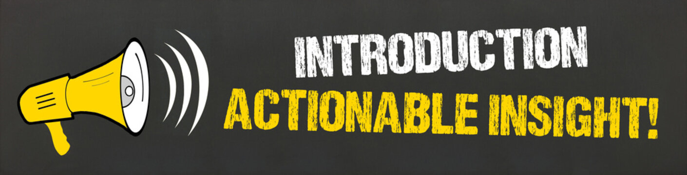 Introduction Actionable Insight!