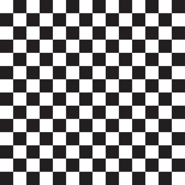 Seamless, repeatable checkered, chequered squares pattern and background. Chessboard, chess, checkerboard texture, pattern. Simple, basic monochrome, pepita, alternating squares backdrop