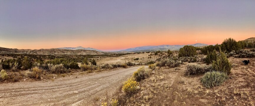 Vivid Desert Sky Panoramic