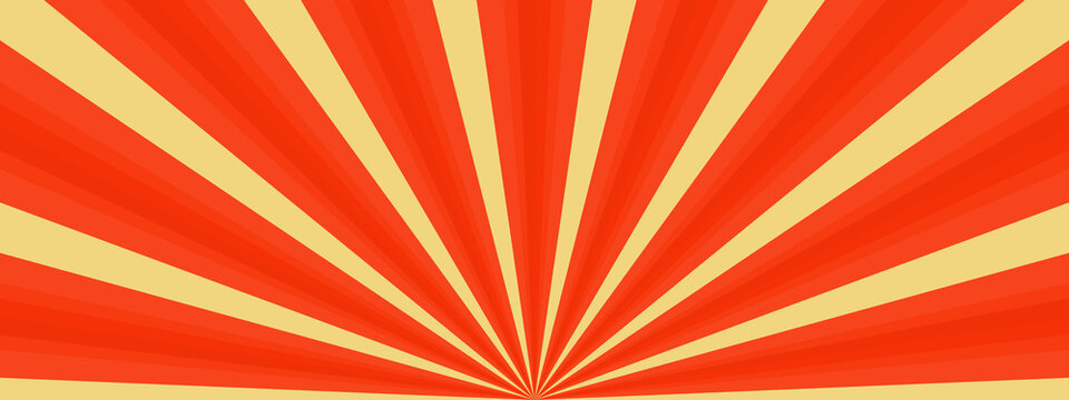 Abstract background with orange rays starburst sunlight fractal sunbeam on yellow wallpaper backdrop pattern seamless vector illustration graphic design