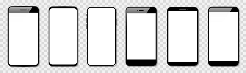 Smart phone vectoron transparent background