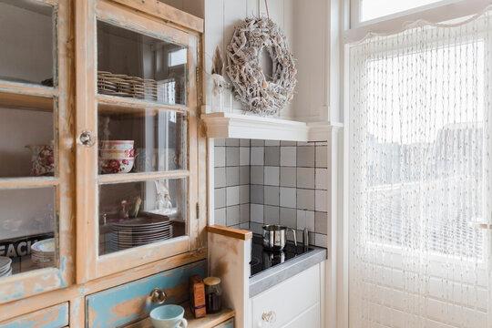 Kitchen in shabby chic style -  Hindeloopen, Friesland, Netherlands
