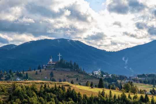 Late summer view  on Tihuta Pass, Bucovina, Romania