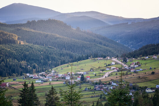 Late summer view  on Mestecanis Pass, Bucovina, Romania