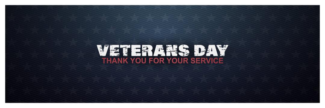 veterans day, thank you for your service, November 11, posters, modern brush design vector illustration