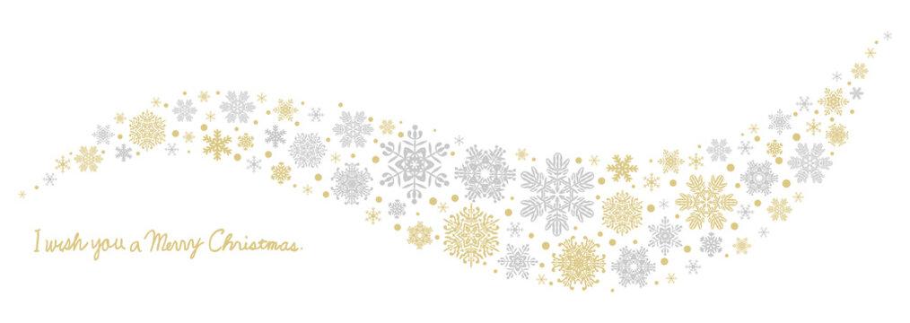雪の結晶 曲線状のクリスマス装飾