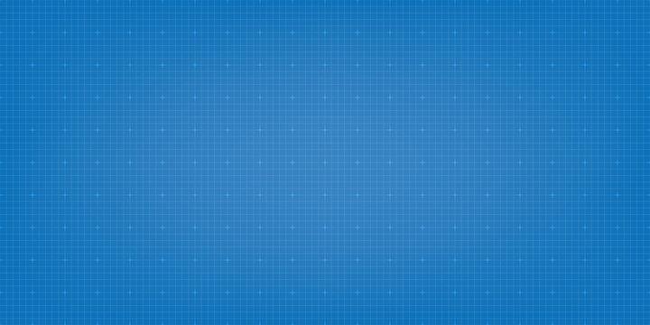 Blueprint digital paper background. Grid vector background