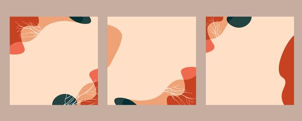 October. Modern, trendy design set for social media. Contemporary art. Creative conceptual and...