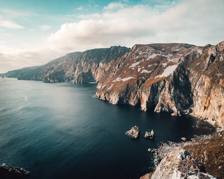 Slieve league Cliffs during a sunny afternoon