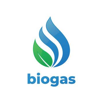 biogas logo, modern design template.