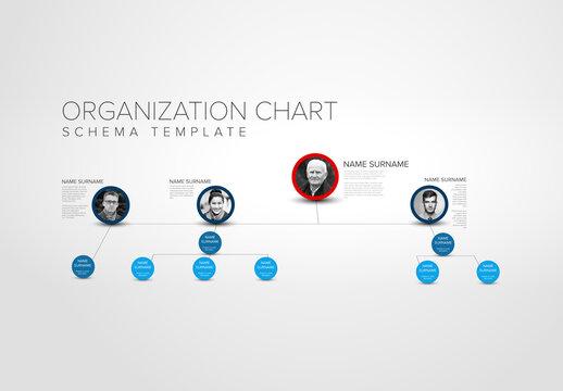 Company Hierarchy Organization Schema Layout