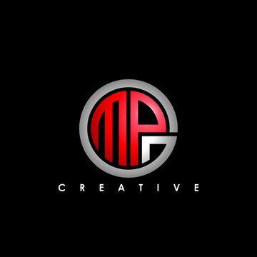 MPG letter logo design vector