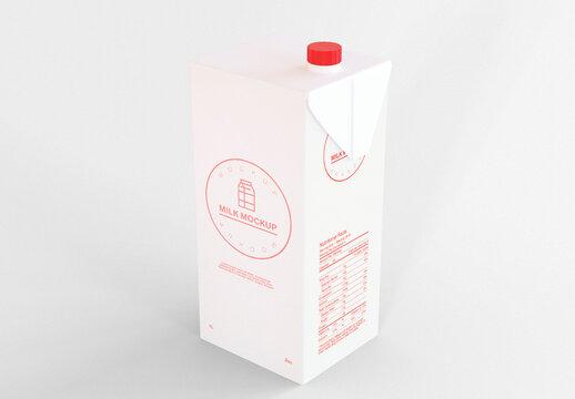 Milk Carton Mockup