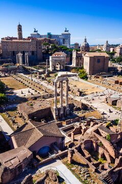 Roman Forum seen from Palatine Hill, Rome, Lazio