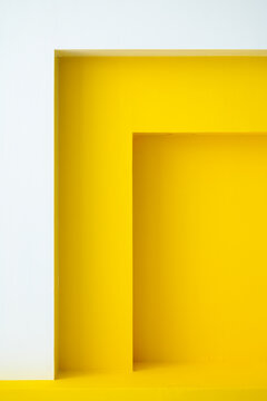 Yellow architecture window