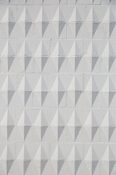 Textured Wall with Diamond Pattern