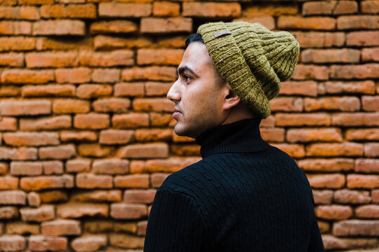 Portrait of a young south asian man.