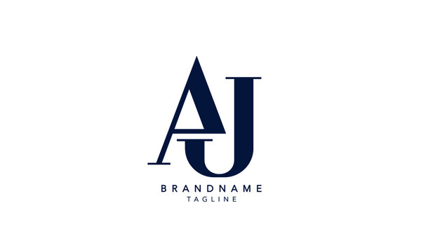 Alphabet letters Initials Monogram logo AJ, JA, A and J