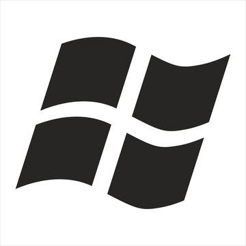 Flat design style. Black web icon symbol. Website icon symbol illustration isolated on white background.