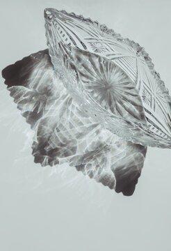 Beauty shadow of crystal vase