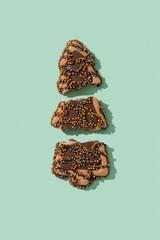 broken christmas tree cookie