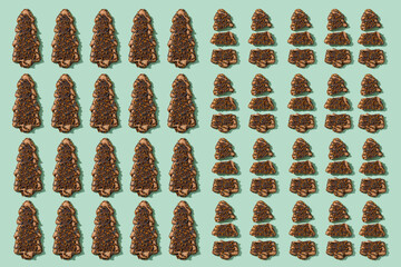 mosaic of some christmas tree cookies
